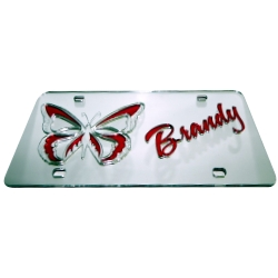 Mirrored Butterfly Theme<br>License Plate | Auto Tag<br>Express Your  Individuality with a CoolMirror Car Plate <br>