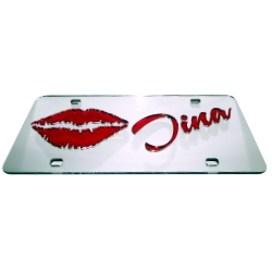 Mirrored lips Theme Personalized License Plate