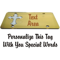 Christian Crucifix - Cross Personalized<br>Durable Mirrored Acrylic<br>License Plate-Auto Tag
