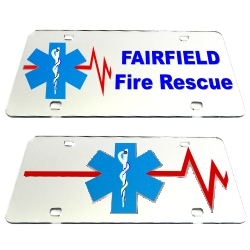 Personalized EMT Mirrored Auto Tag