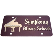 Personalized Piano Mirrored Auto Tag
