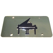 Musical piano mirror inlayed auto tag