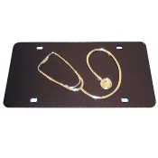Stethoscope Medical mirrored auto tag