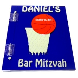 Basketball Mitzvah Sign In Book