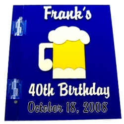 Franks 40th Birthday Sign in Book