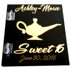 Genie Lamp Sweet 16 Sign In Book