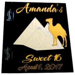 Pyramid Sweet 16 Sign In Book