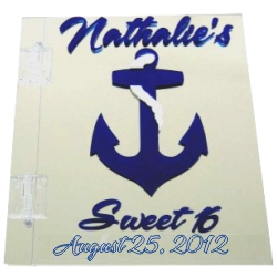 Nautical Sweet 16 Sign In Book