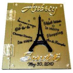 Eiffel Towes Sign in book