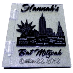 City Skyline Sweet 16 Sign In Book