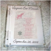 Elegant clear Lucite sign-in memory book
