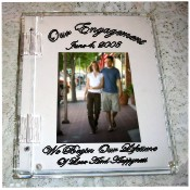Engagement photo cover guest sign in book