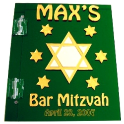 Star Photo Mitzvah Sign In Book