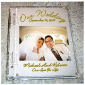 Wedding photo cover guest sign in book