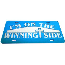 Spiritual Religious<br>Auto Tag | License Plate<br>Winning Side<br>Laser Mirror Inlayed<br>